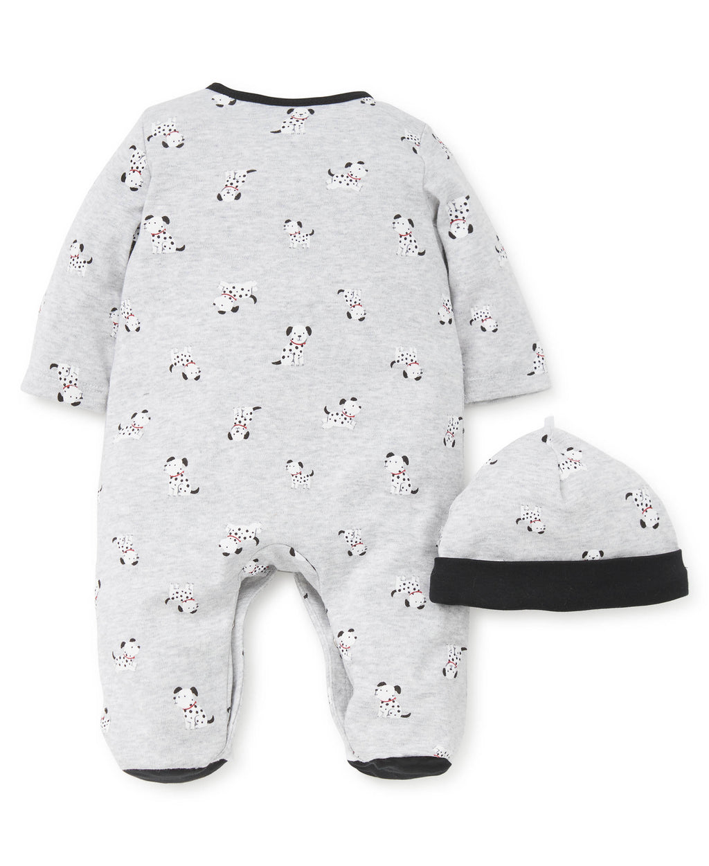 Dalmatian Footed One-Piece and Hat