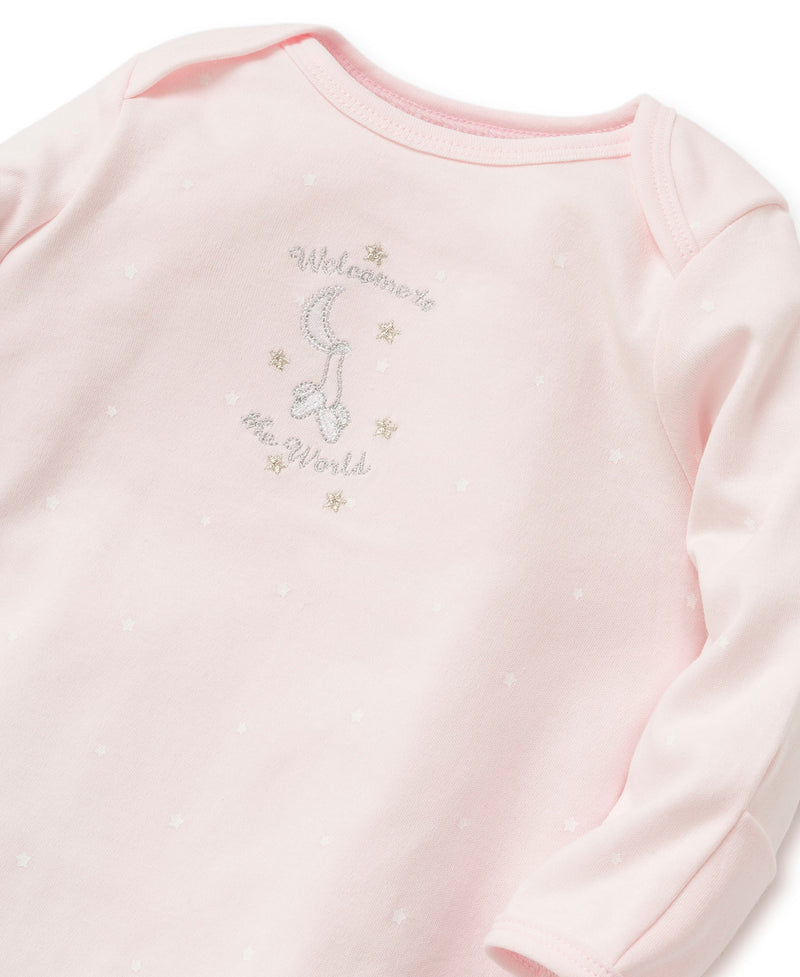 Pink Welcome To The World Sleeper Gown And Hat - Little Me