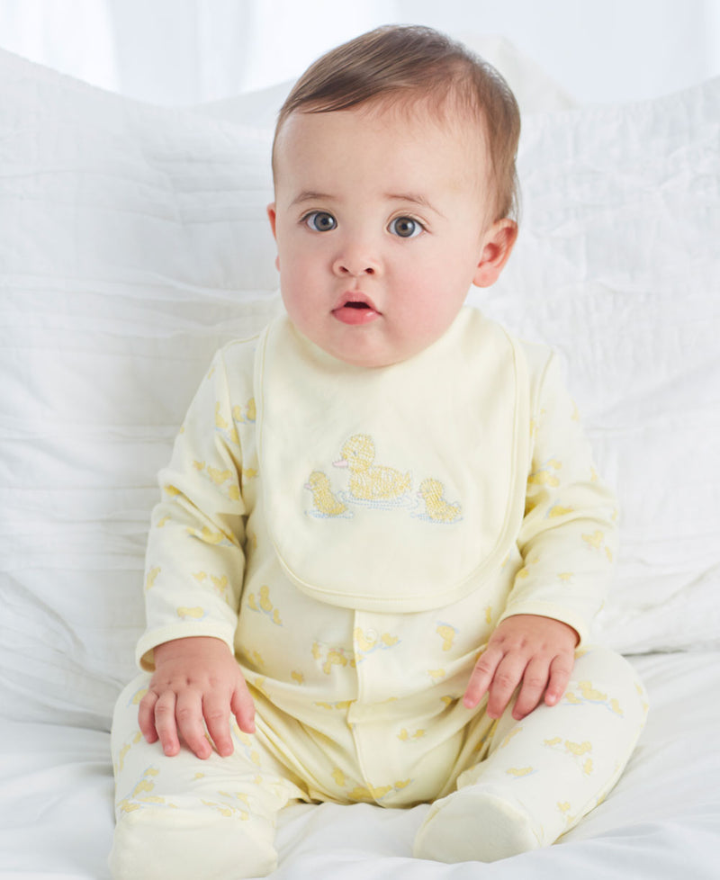 Little Ducks Footed One-Piece and Bib