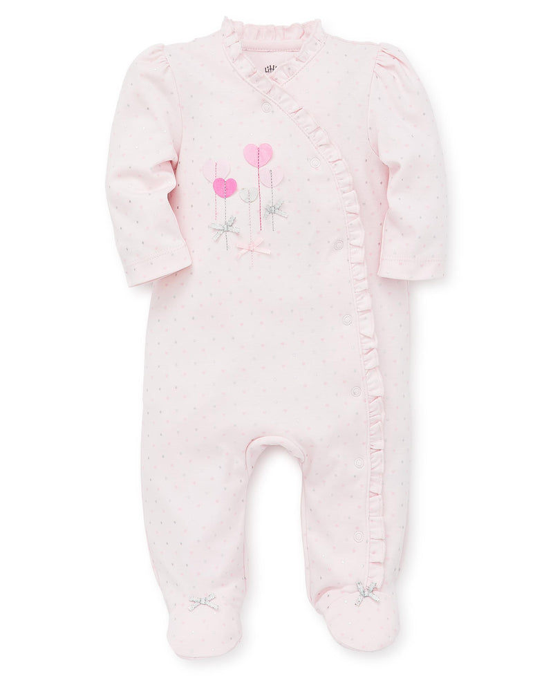 Sweet Hearts Footed One-Piece - Little Me