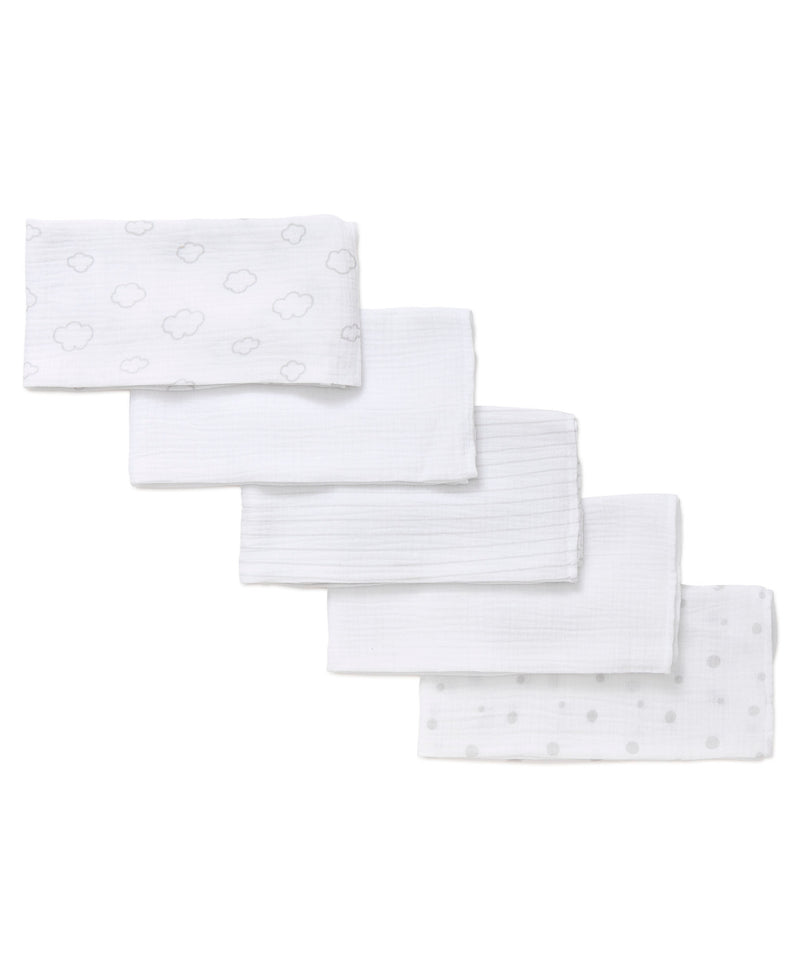 Clouds 5-Pack Muslin Squares
