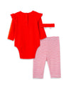 Valentine Bow Bodysuit and Pant Set