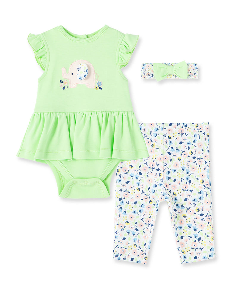 Eleph-Flower Bodysuit and Pant Set