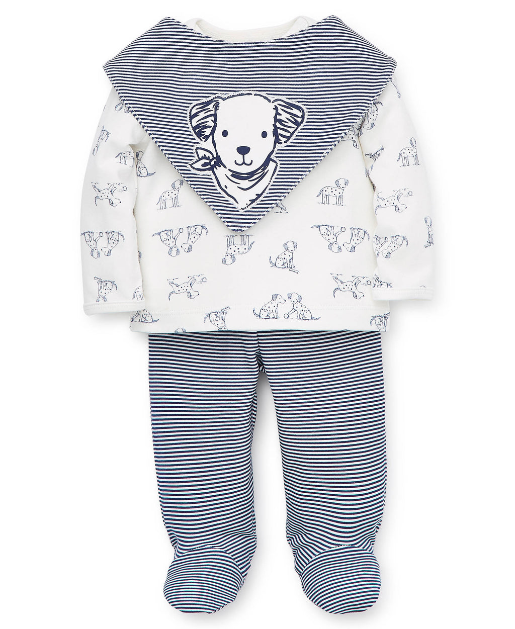 Playful Puppy Toile Footed Pant Set