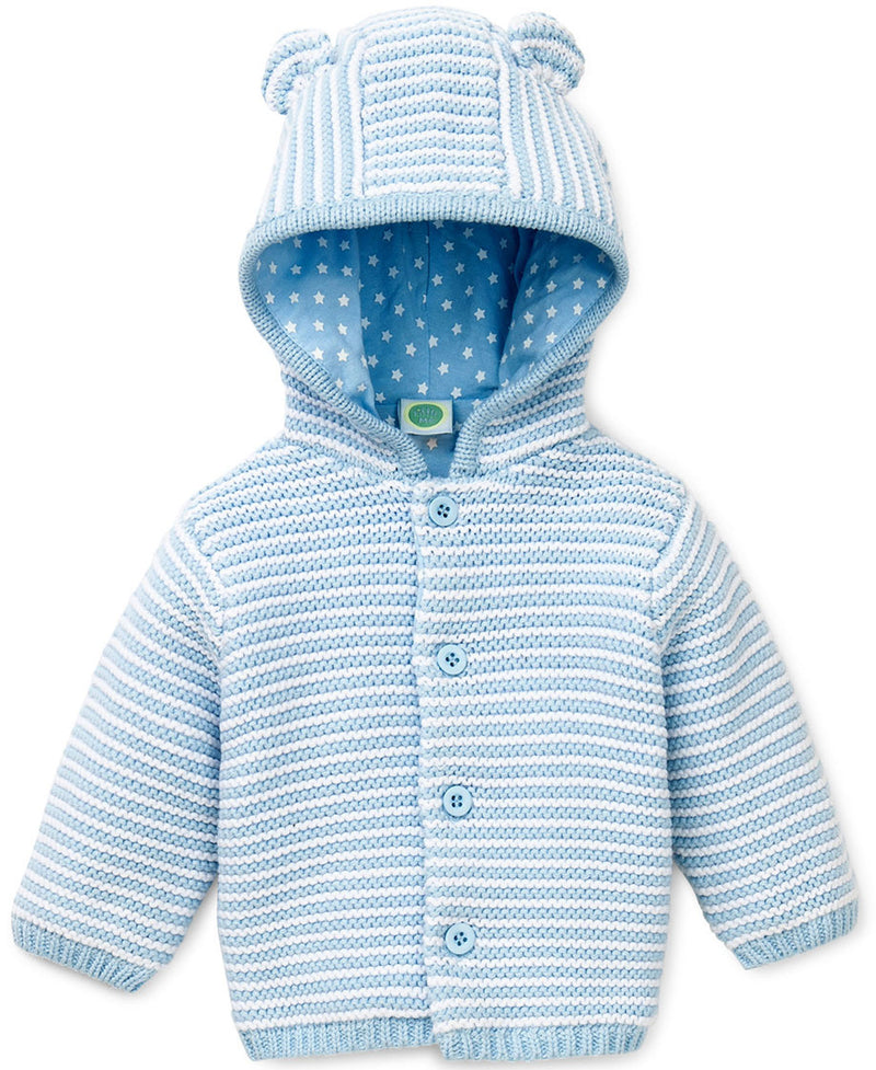Blue Textured Hoodie - Little Me
