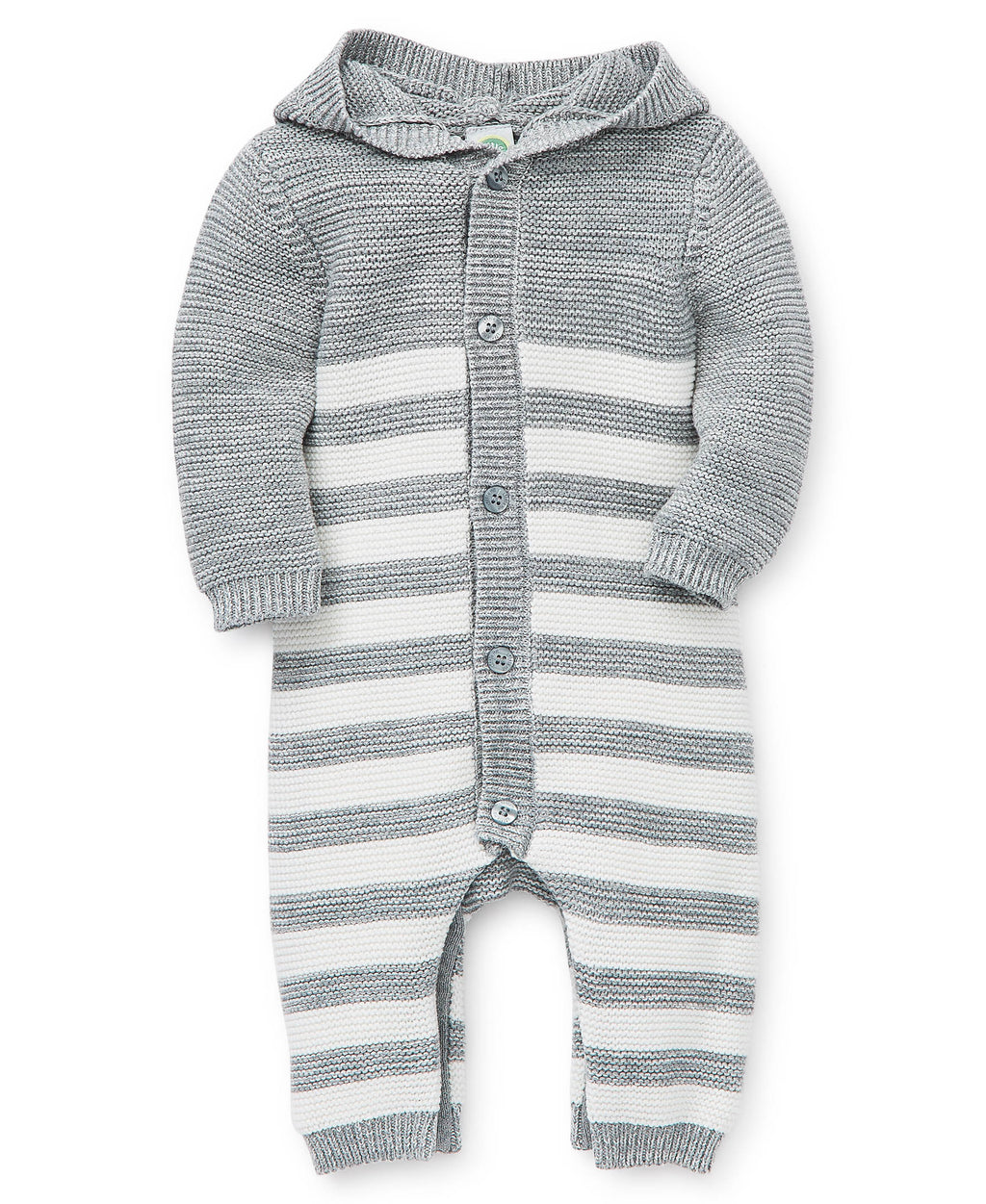 Gray Striped Sweater One-Piece