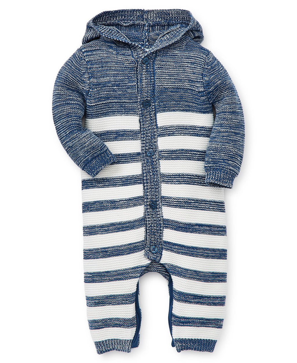 Blue Striped Sweater One-Piece
