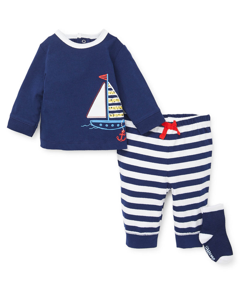 Sailboat Jogger Set - Little Me