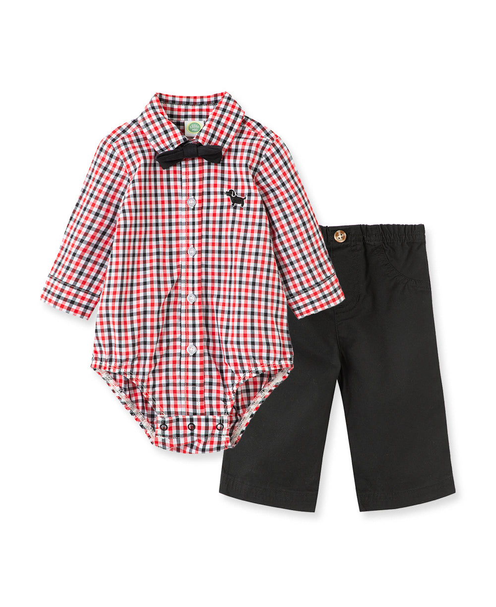 Puppy Woven Pant Set
