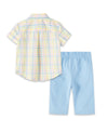 Easter Check Infant Pant Set