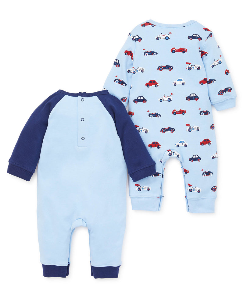 NEW LITTLE ME INFANT BOYS BABY BLUE  FOOTED SLEEPER ONE-PIECE 3M 6M 9M