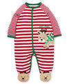 Holiday Reindeer Footed One-Piece