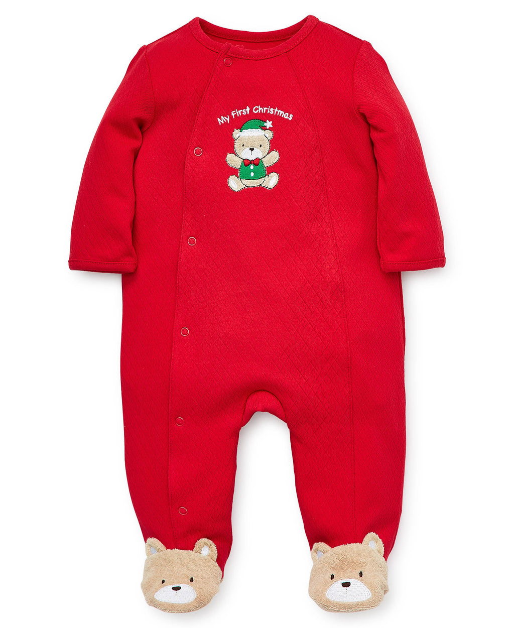 Holiday Bear Footed One-Piece