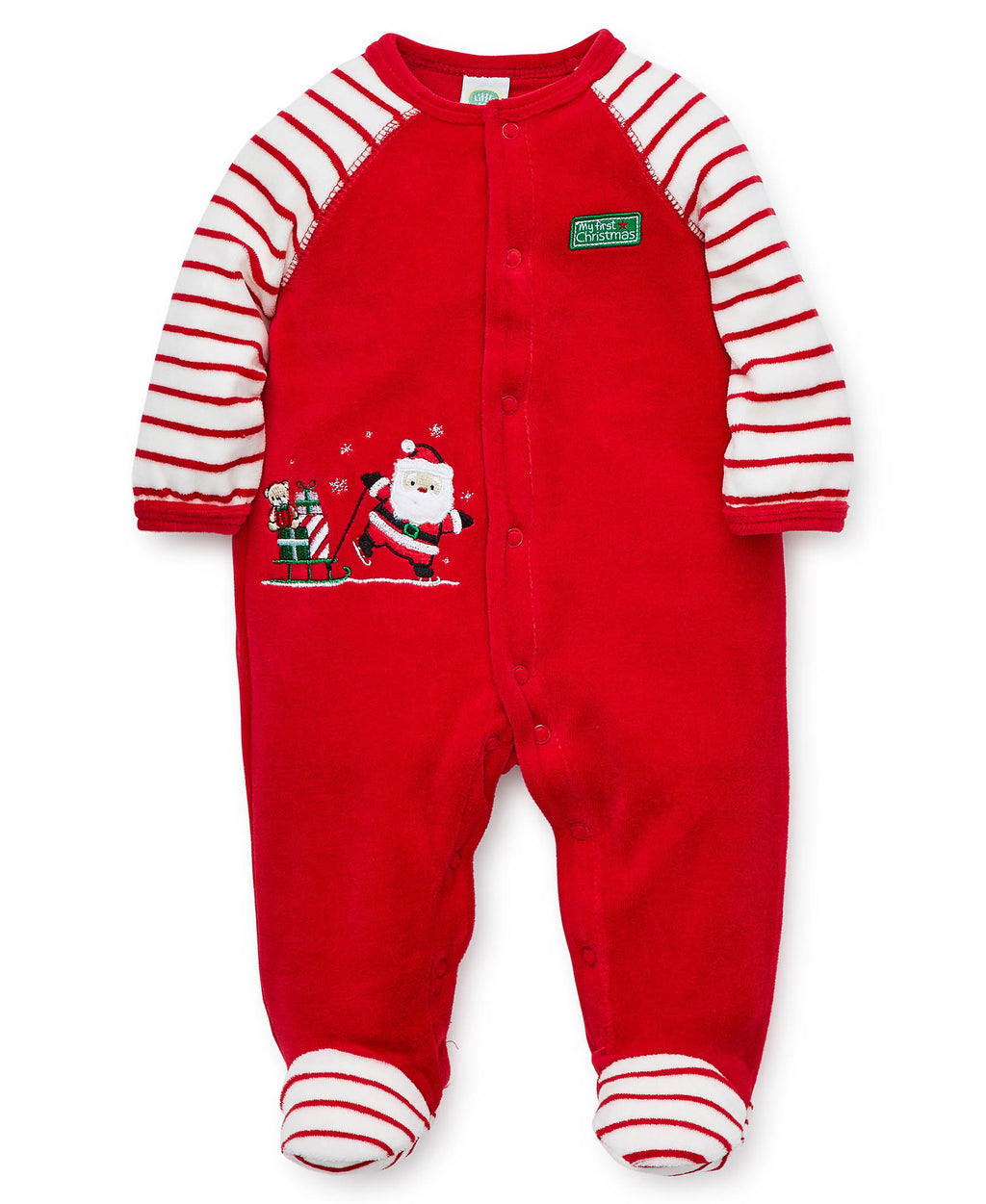 Holiday Santa Velour Footie