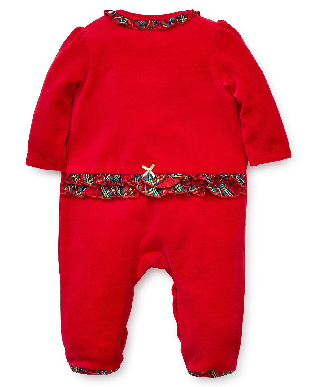 Holiday Velour Footed One-Piece