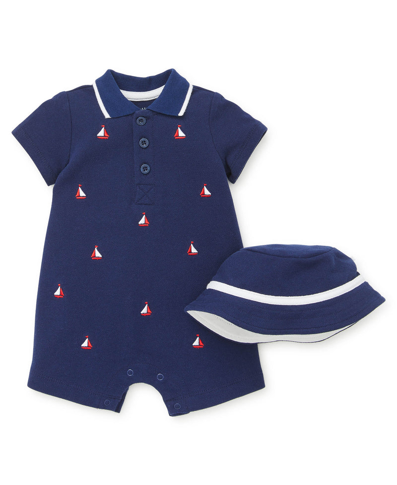 Sailboat Romper - Little Me