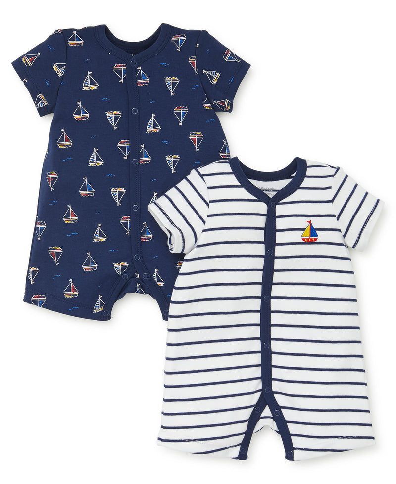 Sailboat 2-Pack Rompers - Little Me