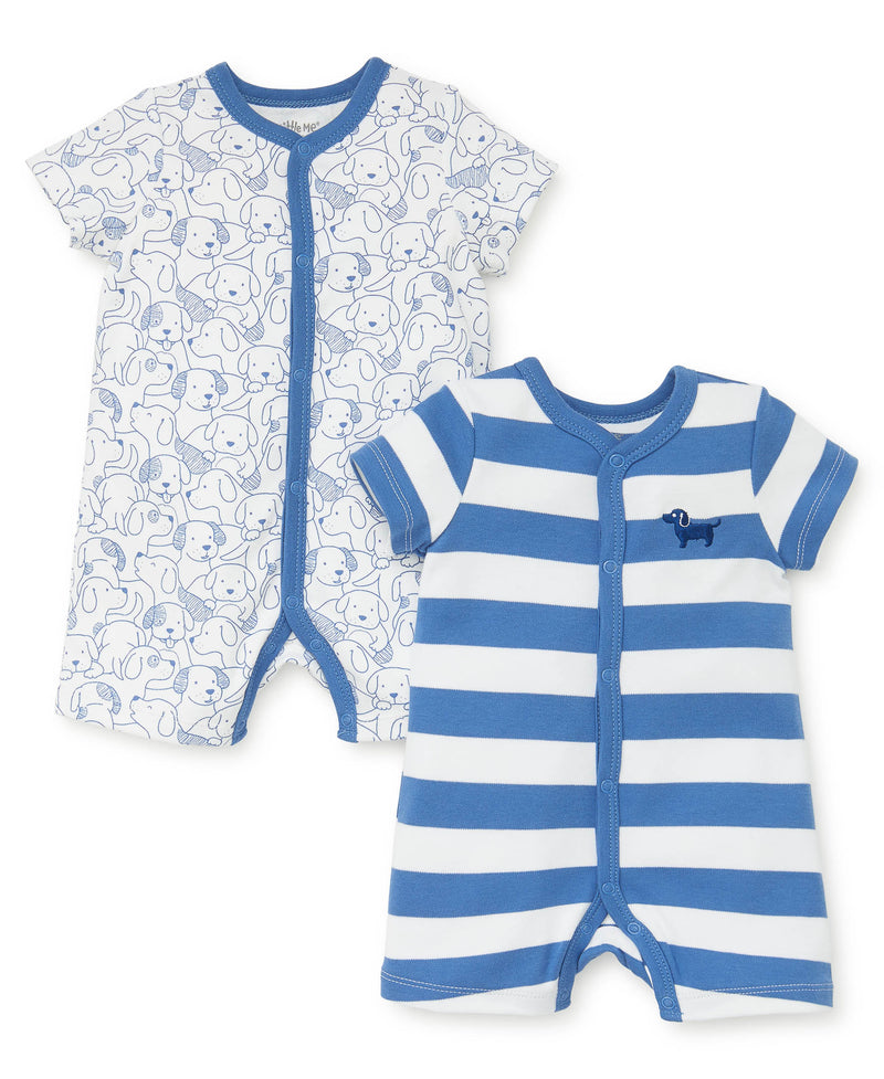 Puppy 2-Pack Rompers - Little Me