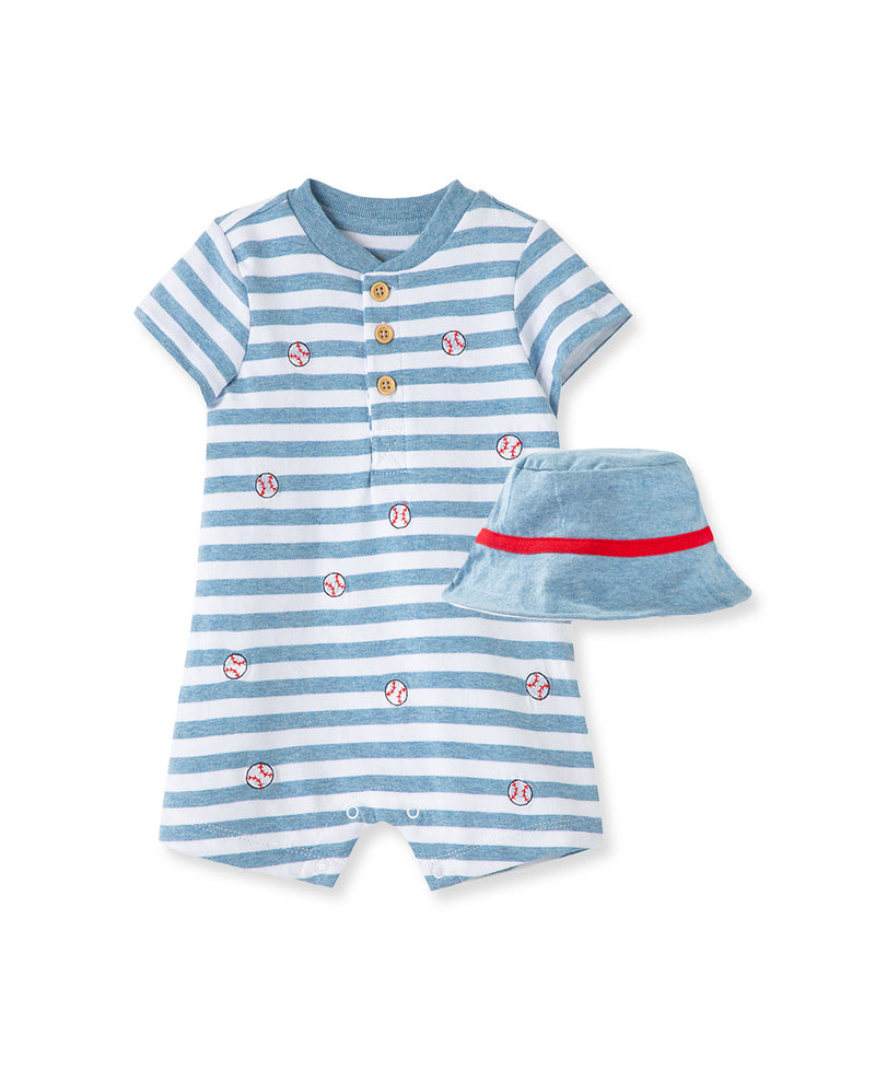 Baseball Romper & Hat