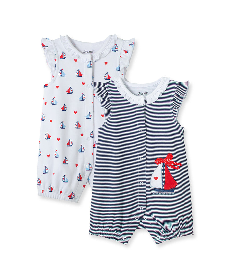 Sailboat 2-Pack Rompers