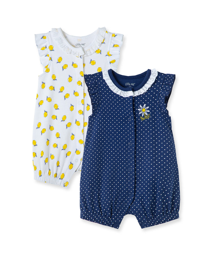 Lemon 2-Pack Rompers