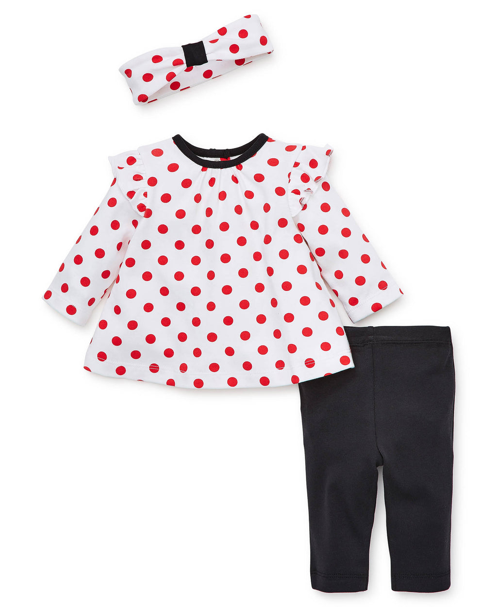 Red Polka Dot Tunic Set