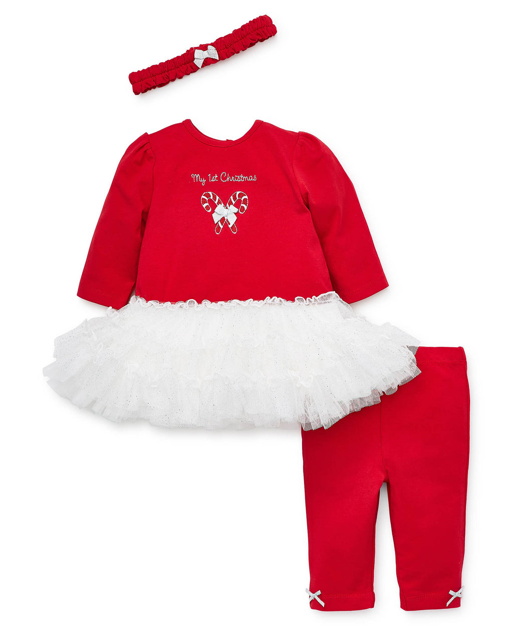 Holiday Candy Cane Dress and Legging Set