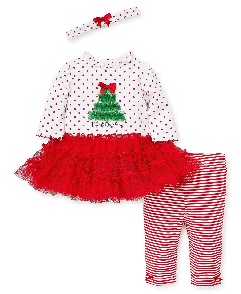 Holiday Tree Dress and Legging Set