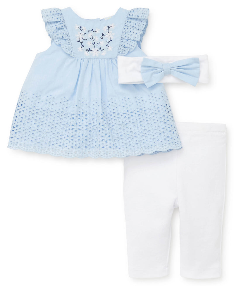 Butterfly Woven Tunic and Leggings - Little Me