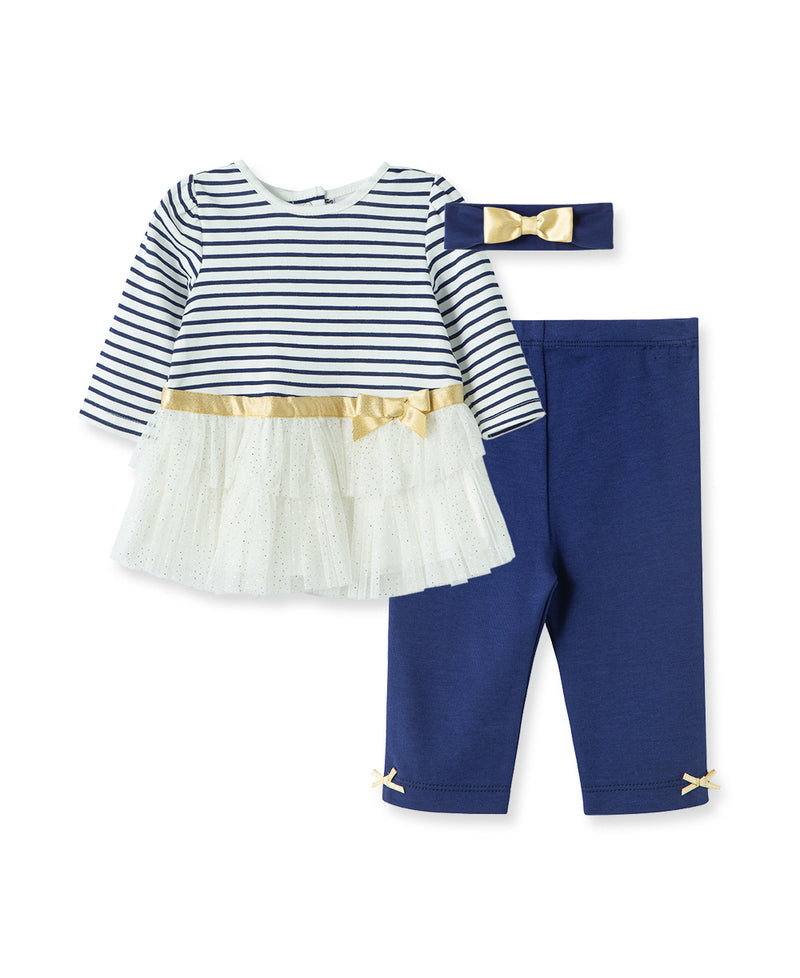 Stripe Tutu Legging Set