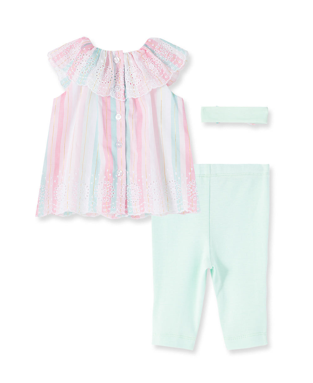 Multi Stripe Woven Infant Tunic Set