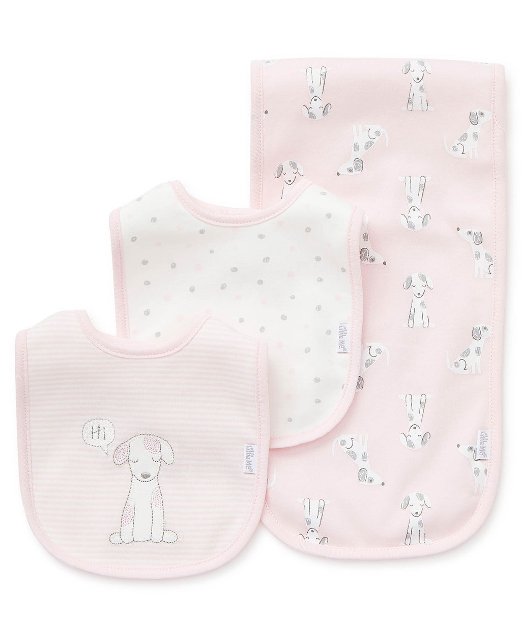 Puppy Love Bib & Burp Set (3-Pack)