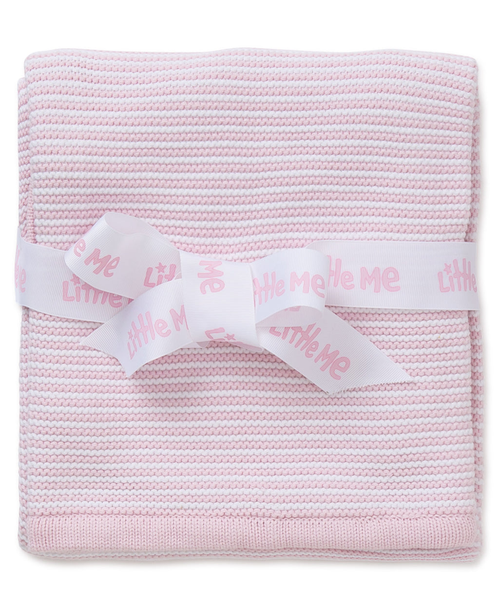 Pink Textured Receiving Blanket