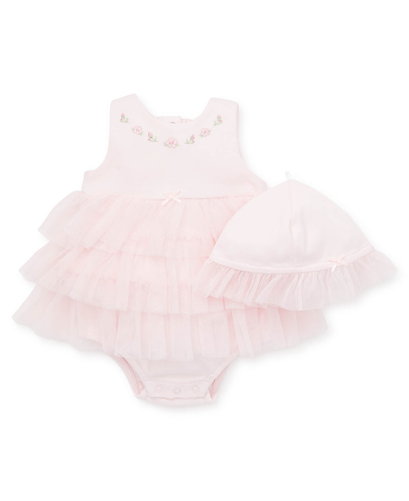 Blossom Garden Pink Popover Dress - Little Me