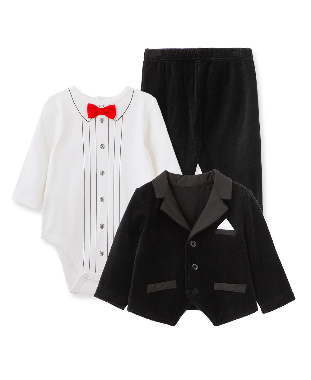 Festive Party Tuxedo Jacket Set