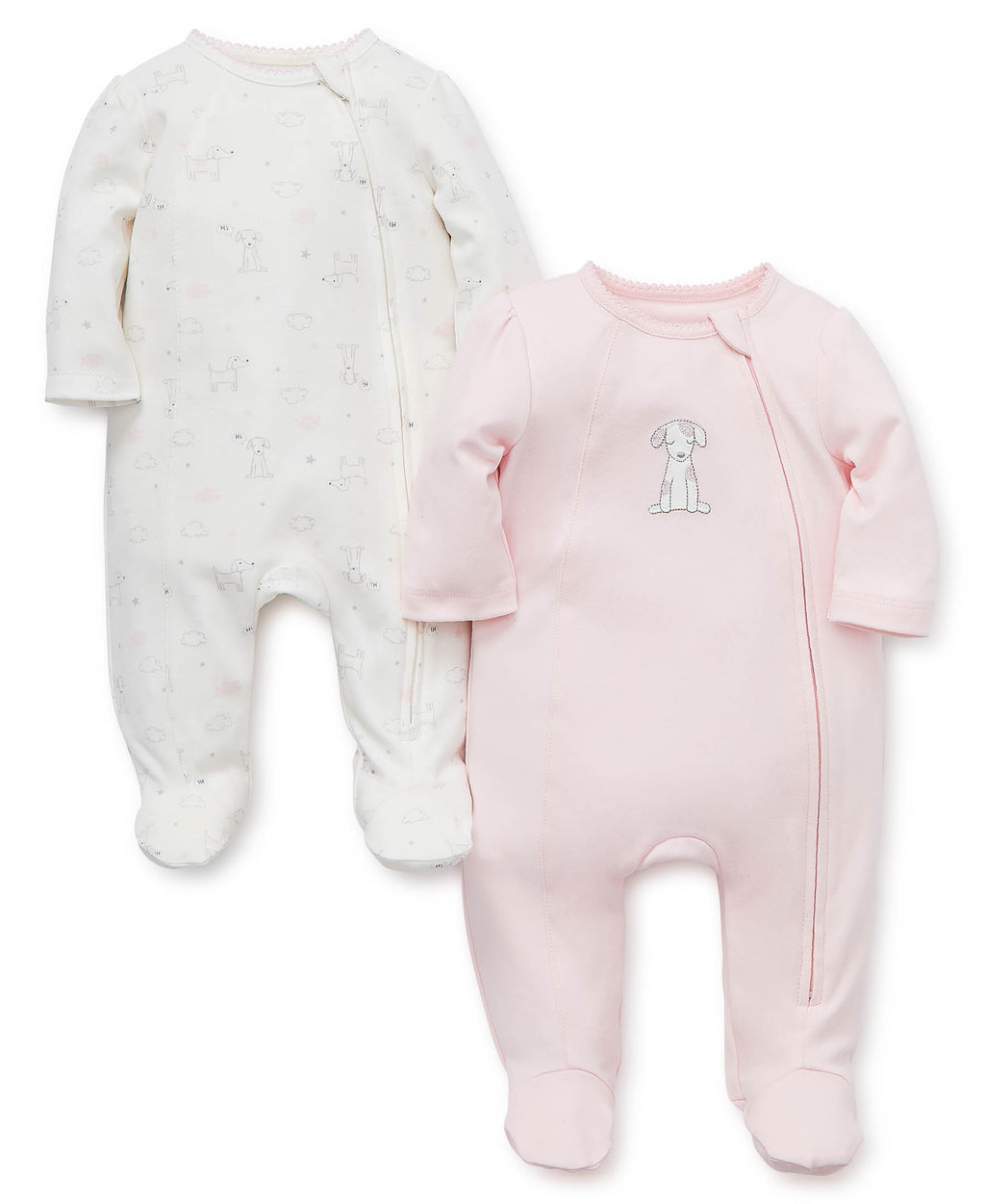 Puppy Love Footed One-Piece (2-pack)