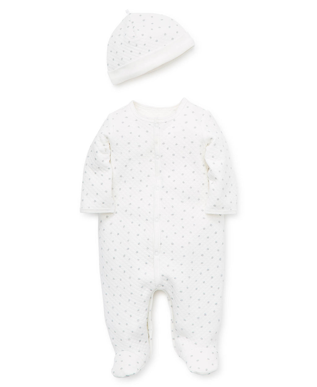 Puppy Pals Footed Spots One-Piece And Hat