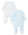 Bear Sails Footed One-Piece (2-Pack) - Little Me