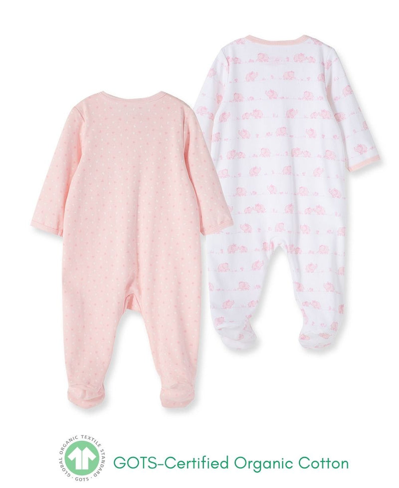 Elephant Garden Footed One-Piece (2-Pack)