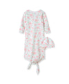 Floral Fourish Sleeper Knot Gown & Hat