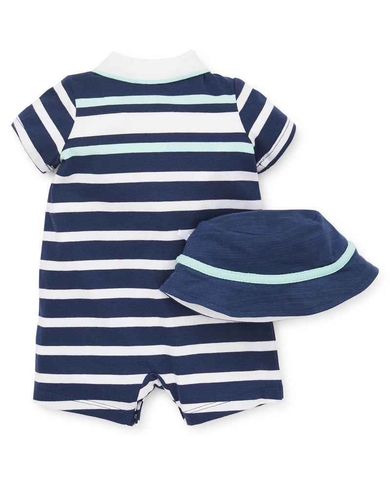 Top Doggy Striped Romper - Little Me