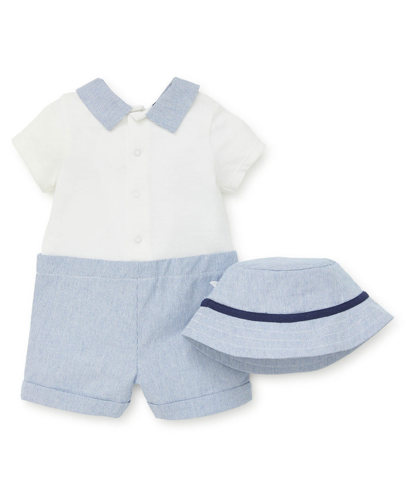 Yacht Club Polo Romper - Little Me