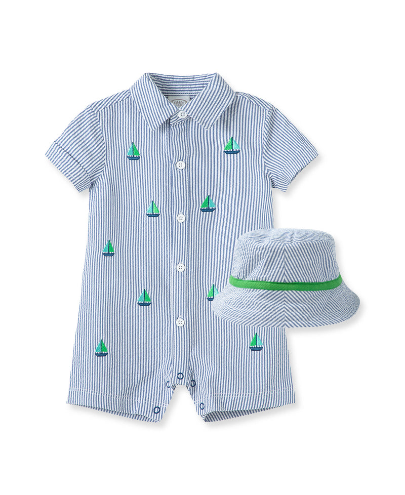 Boating Buddies Collared Romper