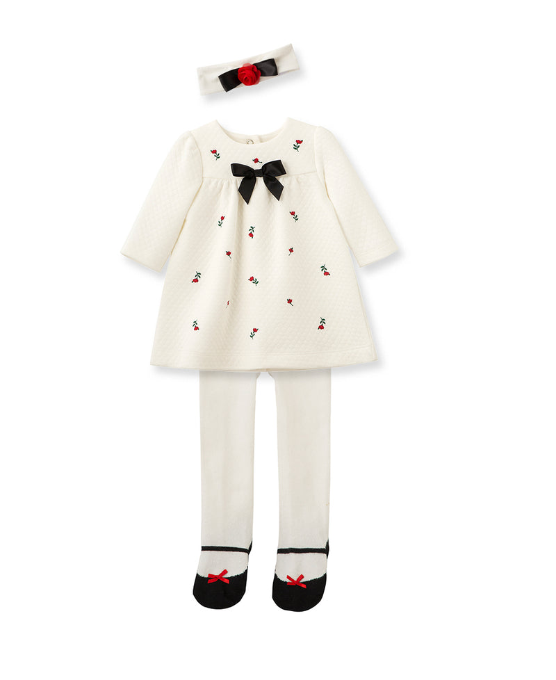 Holiday Party Rosebud Dress Set