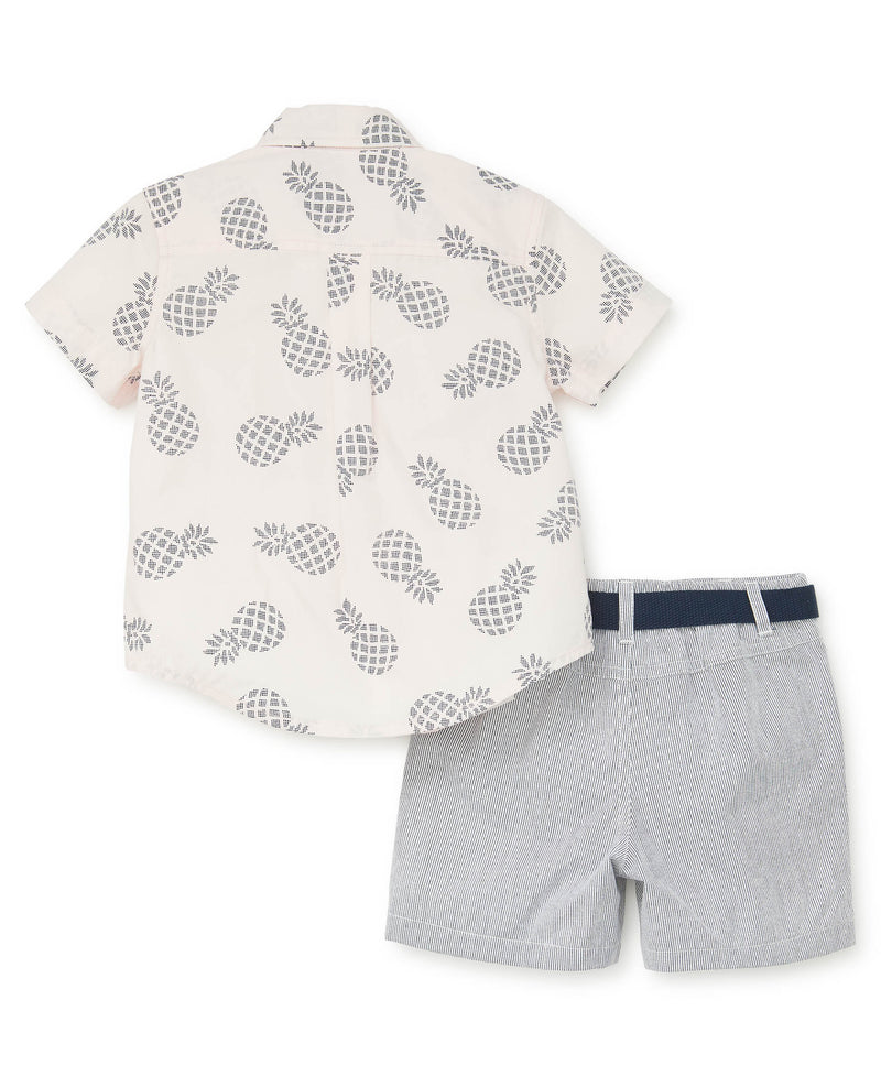 Pineapple Woven Toddler Short Set - Little Me