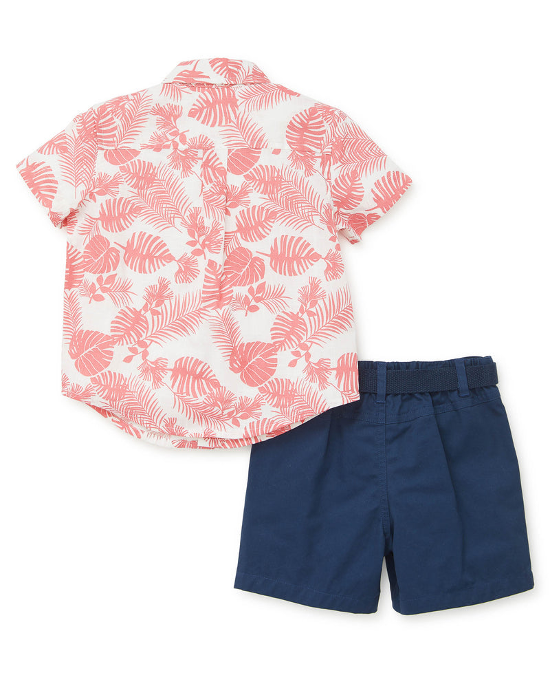 Foliage Woven Short Set - Little Me