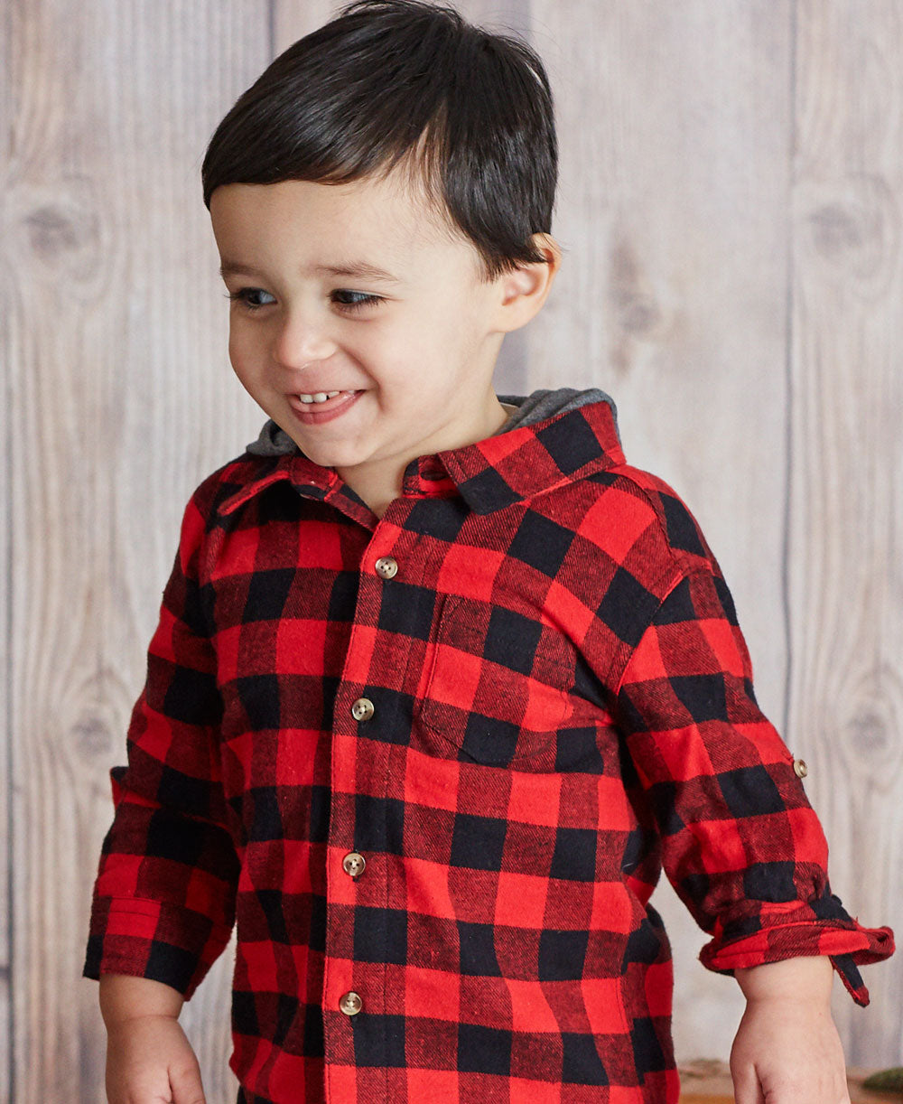 Red Flannel Toddler Hoodie Top and Pants
