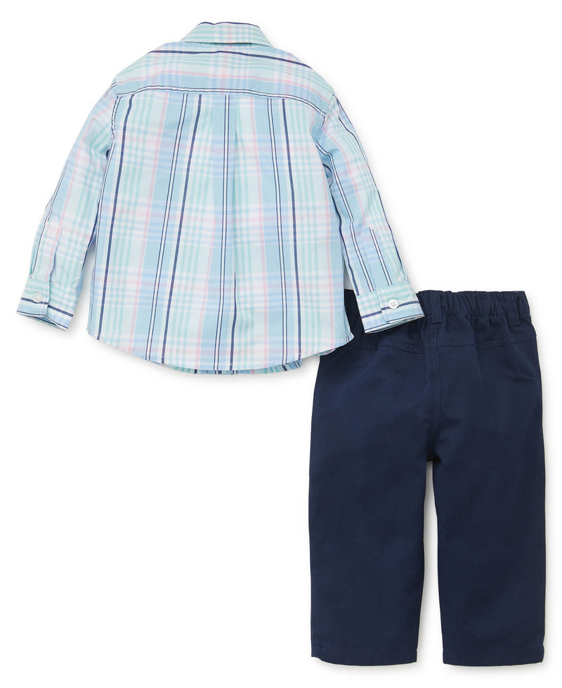 Plaid Woven Toddler Pant Set - Little Me