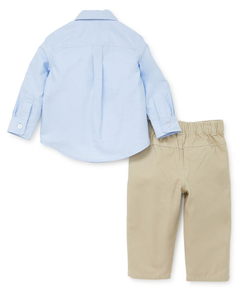 Whale Woven Toddler Pant Set - Little Me