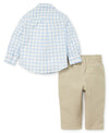 Tattersall Woven Toddler Pant Set - Little Me